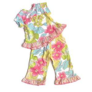 3m Baby Nay BOUTIQUE Luau Hawaiian Set Top Pants